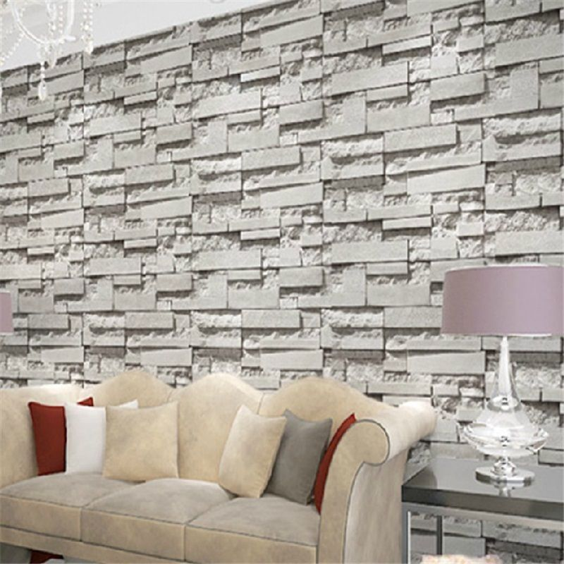 Simplicity 3D Brick Stone Wallpaper Roll Textured Art Wall Paper Decor 800x800
