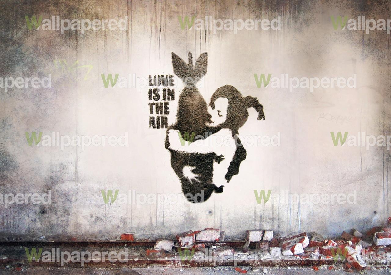 <b>Banksy Monkey Wall</b> Sticker - Funky <b>Chimpanzee Wall</b> Transfer
