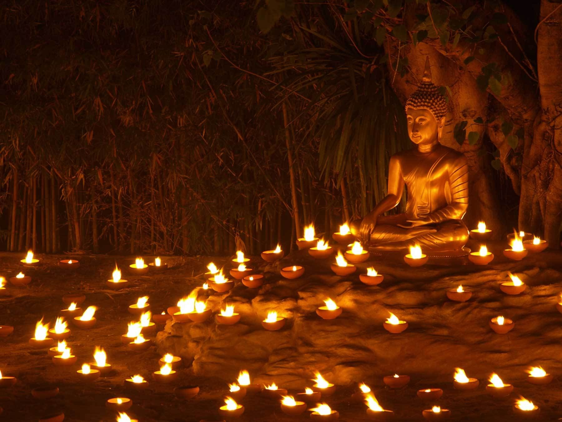 Asalha Puja spells Invocations for Dharma Day Wallpaper walls 1800x1350