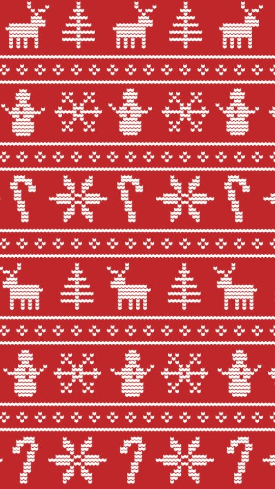 christmas sweater phone background DESIGNprintspatterns Pinter 540x960