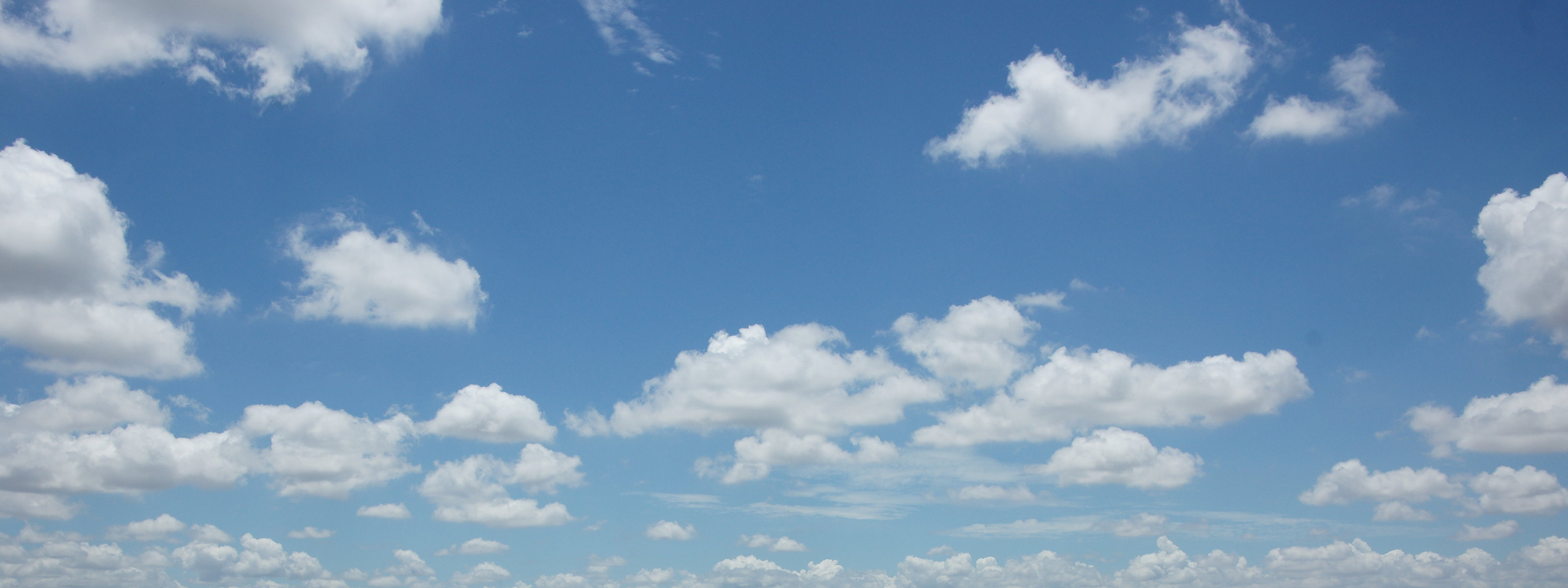 blue sky white clouds cambodia dual monitor background 3200x1200