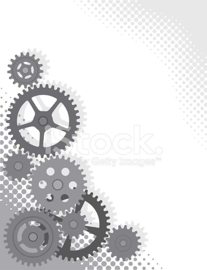 Gears Grayscale Background Stock Vector   FreeImagescom 788x1024