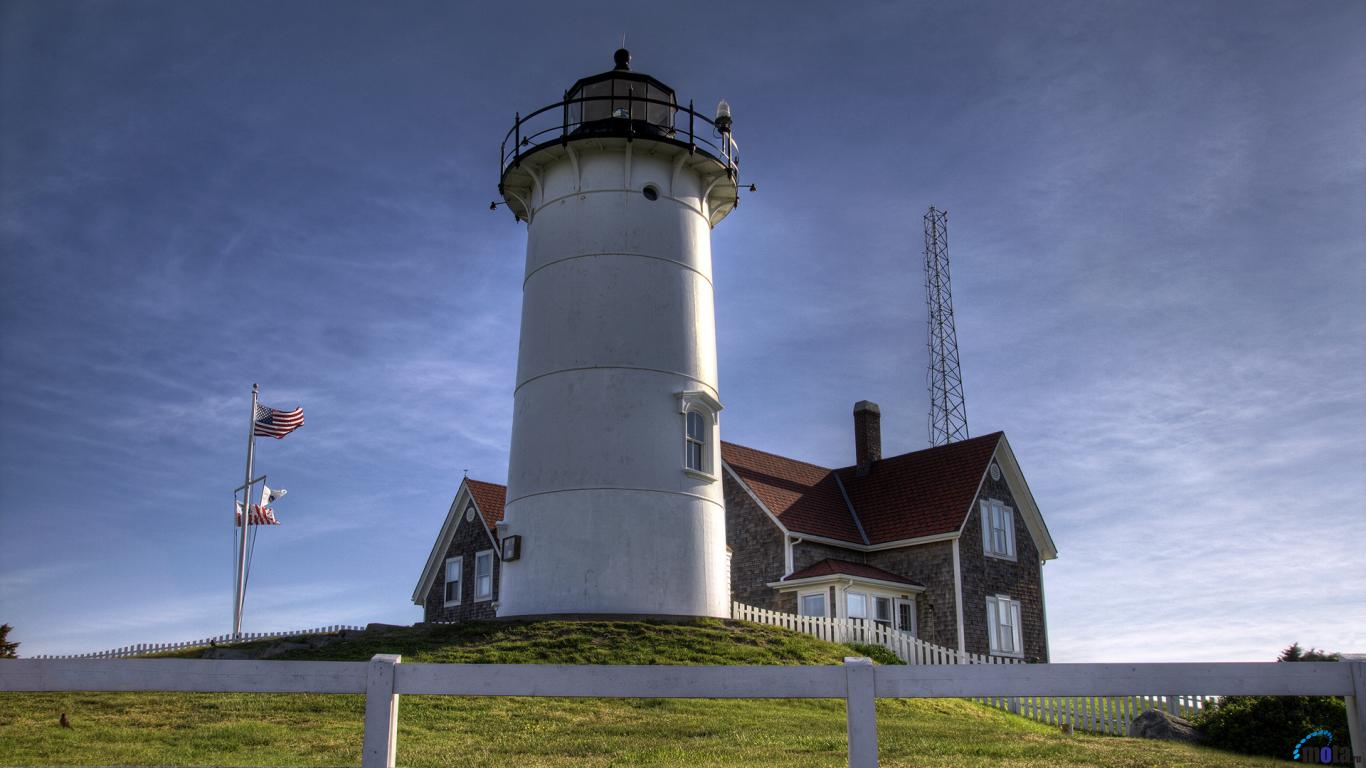 Wallpaper Nobska Light Cape Cod Massachusetts 1366 x 768 Desktop 1366x768