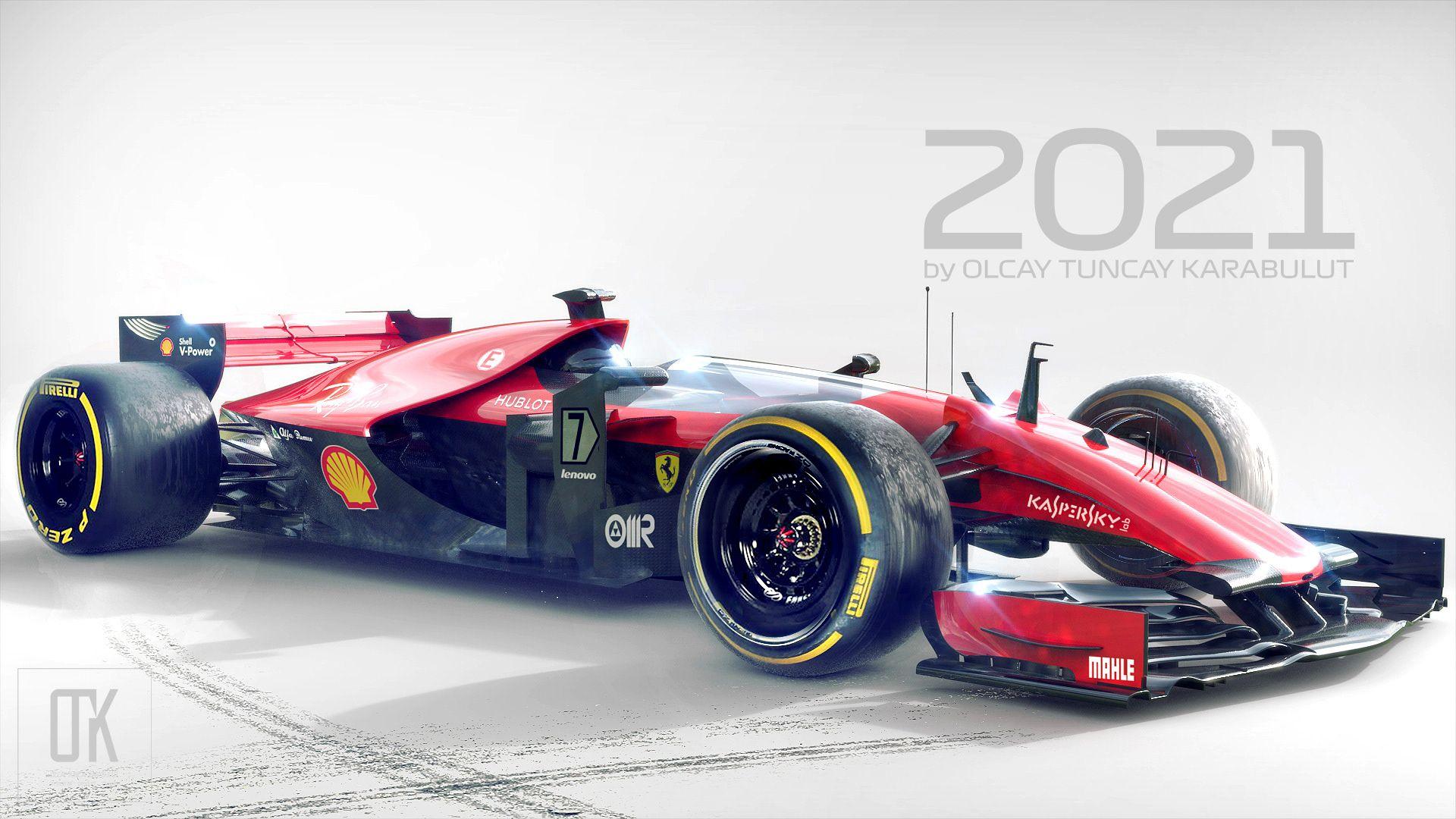 Hemen Behance projeme gz atn Ferrari 2021 Concept https 1920x1080
