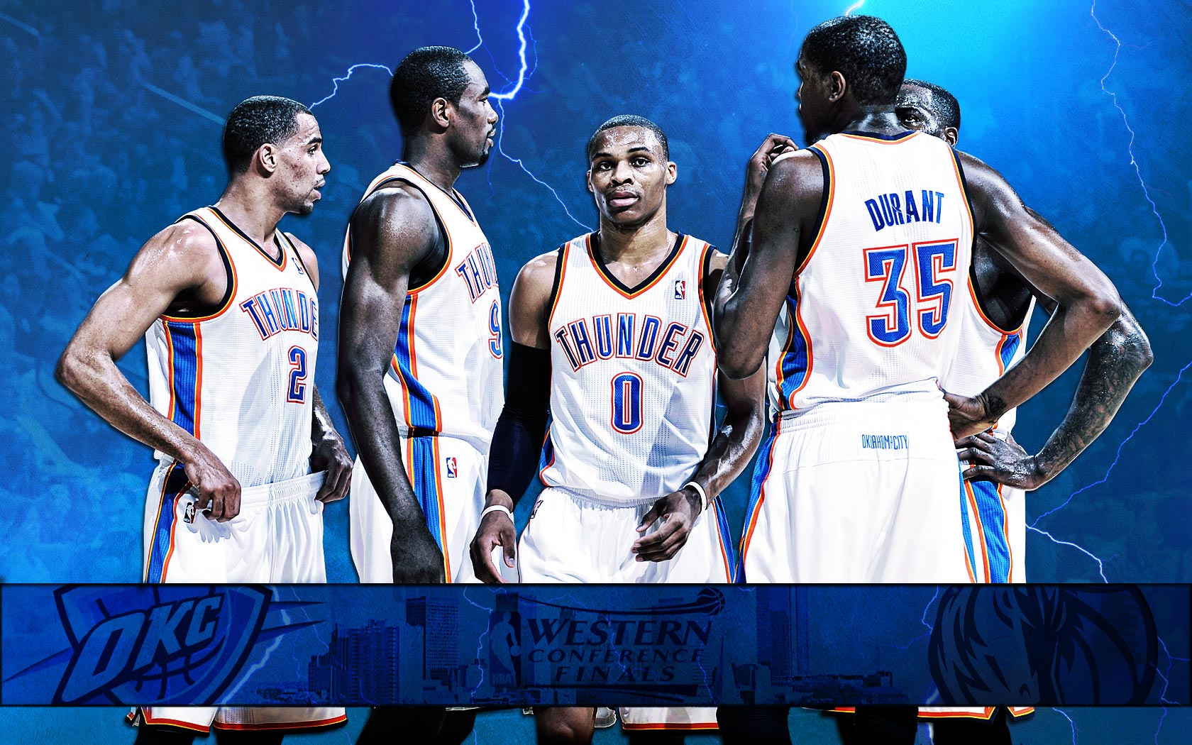 FunMozar Russell Westbrook And Kevin Durant Wallpapers 1680x1050