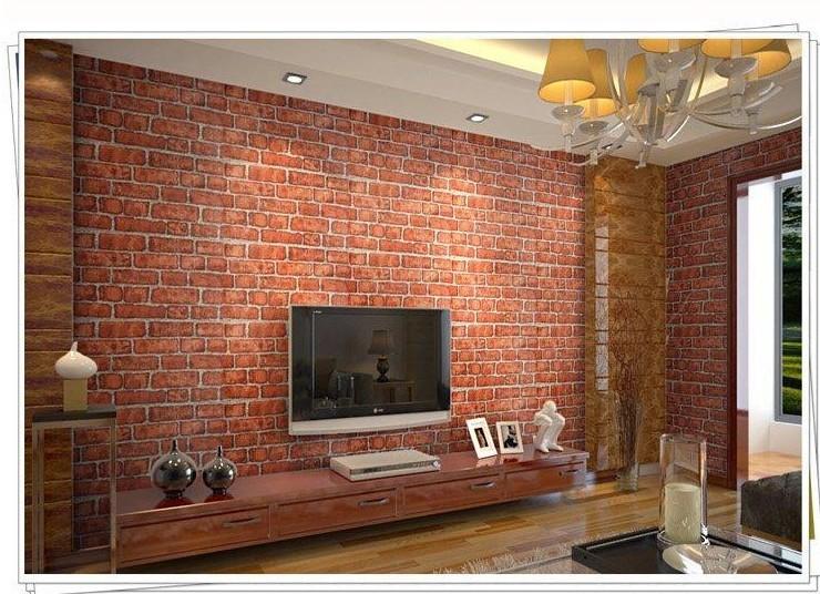 Brick Wall Wallpaper In Bedroom Buy wall paper brick retro 740x536