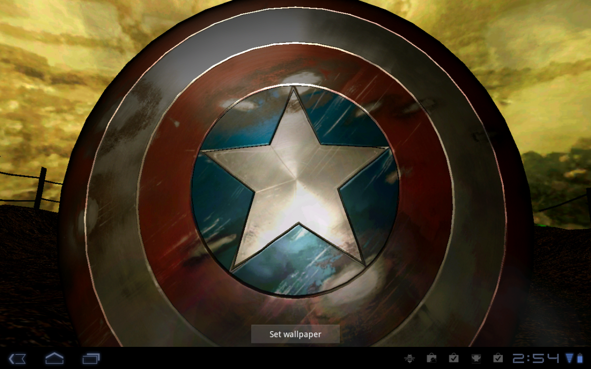 Free Download Android Wallpaper Review Captain America Live
