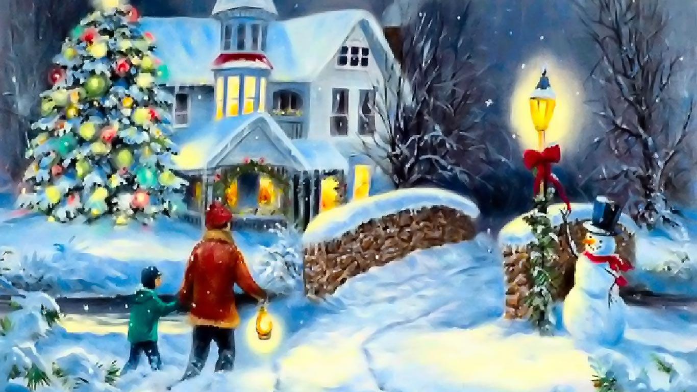 44] Christmas Desktop Wallpaper 1366x768 on WallpaperSafari 1366x768