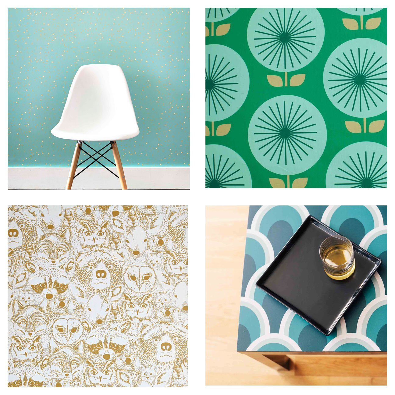 Design Finds Temporary Wallpaper FINDS 1296x1296