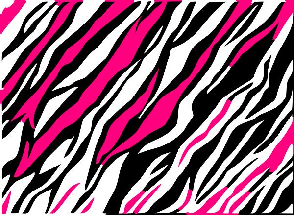 Black And White Zebra Print Background Clip Art at Clkercom   vector 600x439