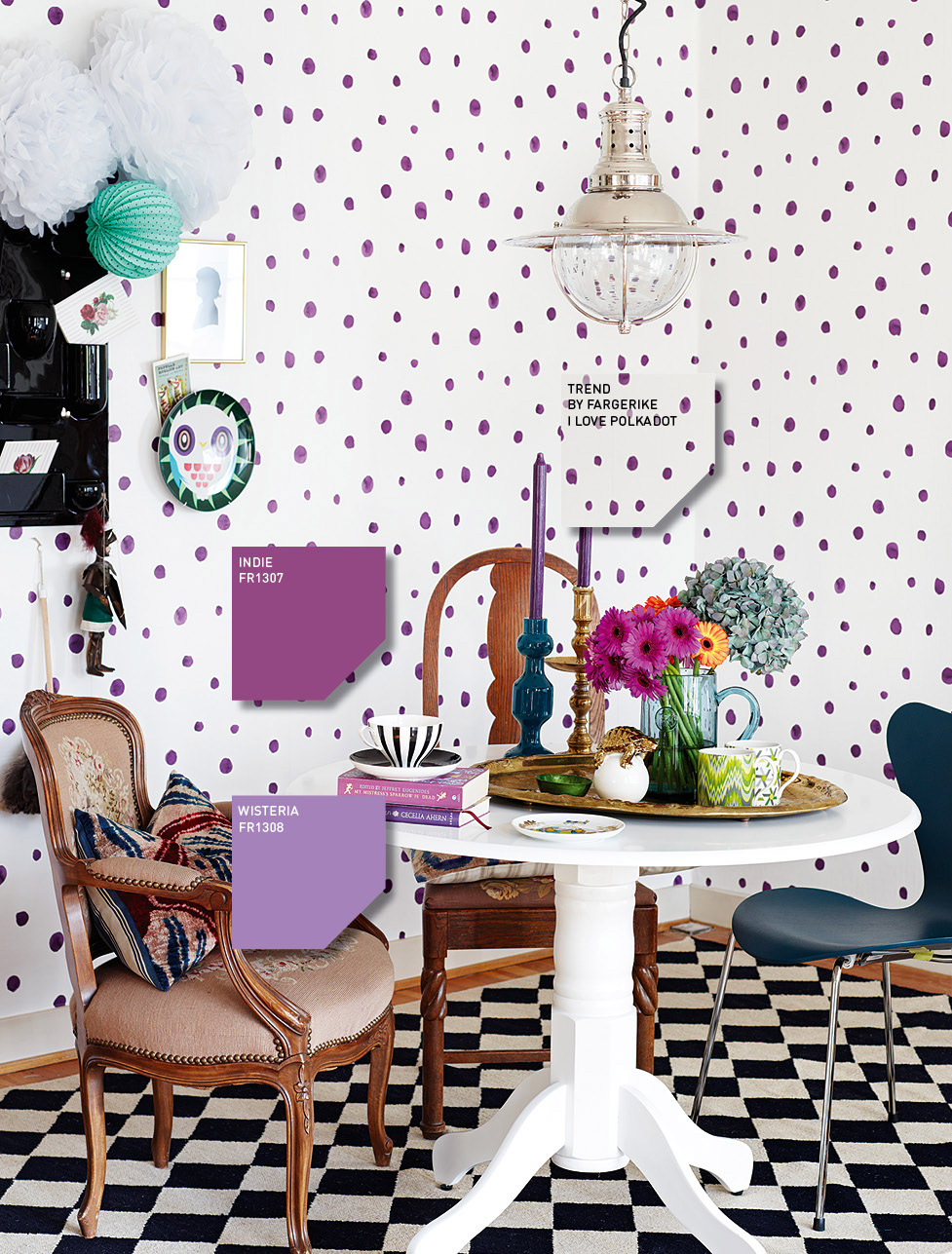 The wallpaper is definitely playful and bold A perfect addition to 977x1287