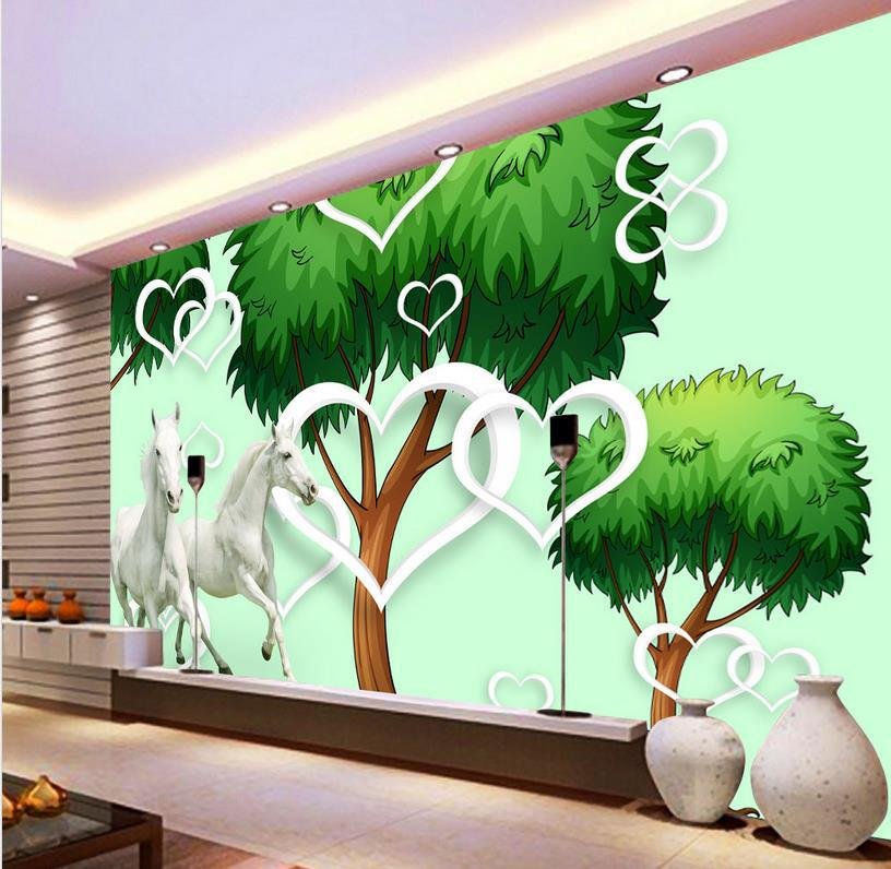 Custom wallpaper 3d stereoscopic tree murals TV backdrop living room 816x796