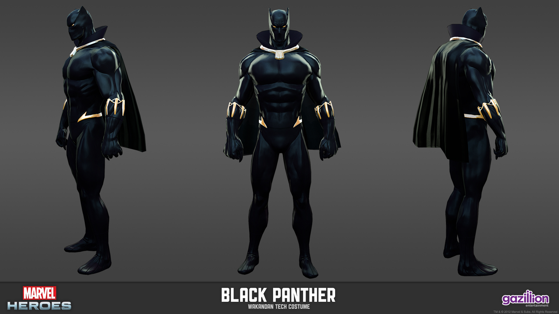 Black Panther Marvel Costume Tyler fermelis 3d character 1920x1080