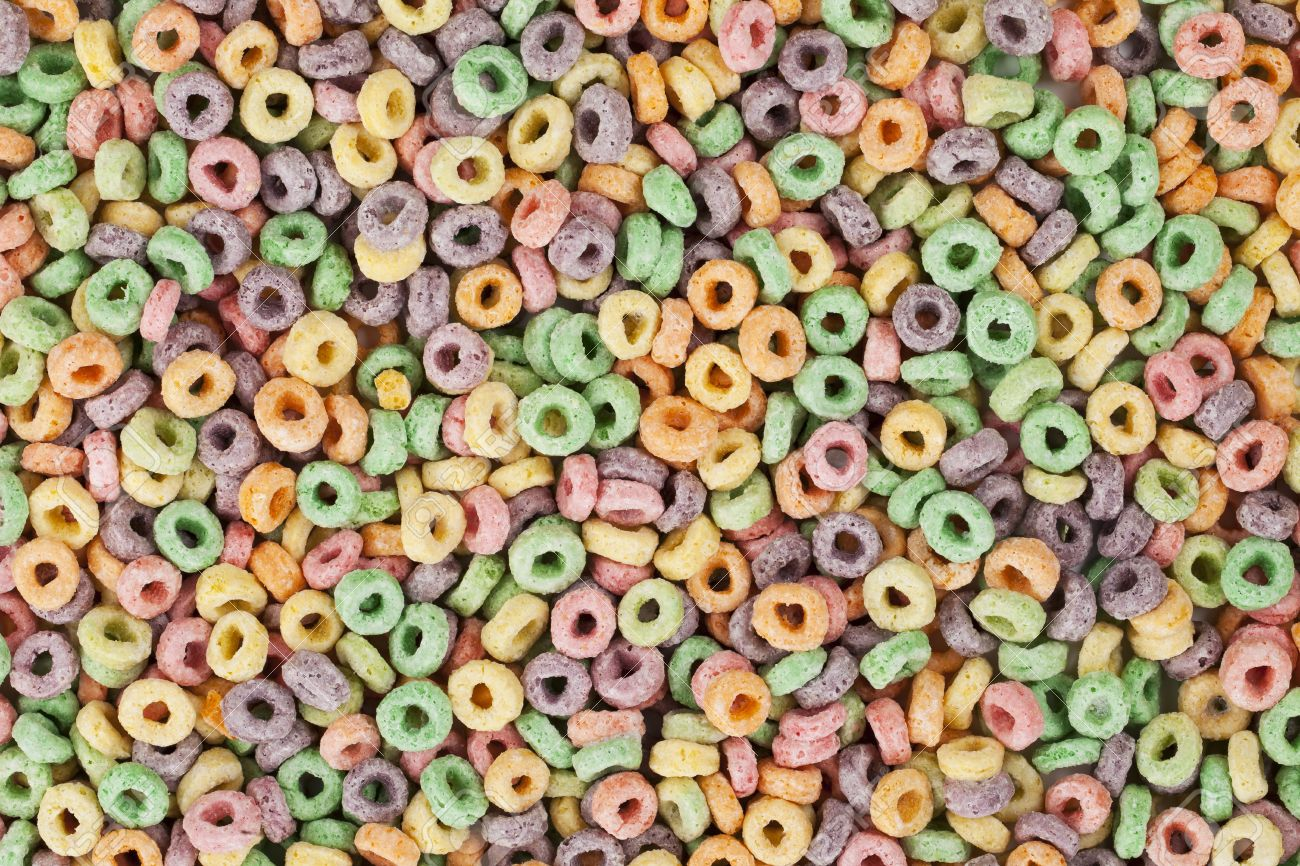Free Download Fruit Loops Cereals In A Background Image