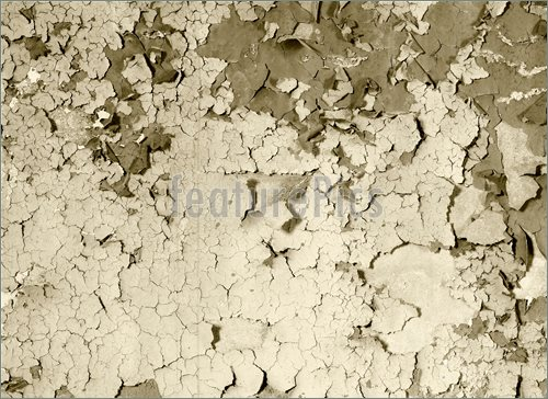 Old Damaged Paint On A Concrete Wall   Sepia Photo    Royalty 500x364