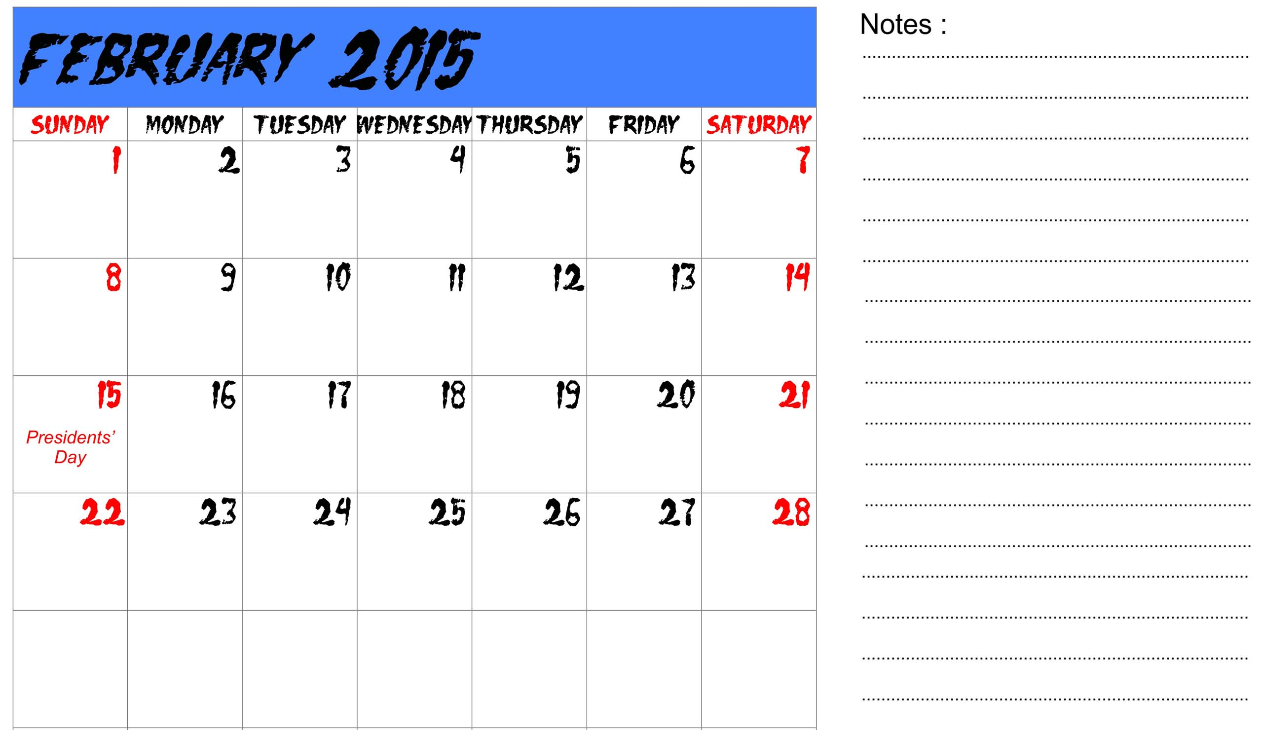 Calendar Wallpaper With Notes : February calendar wallpaper wallpapersafari