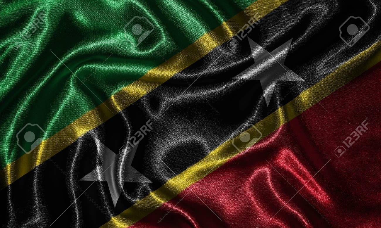 Saint Kitts And Nevis Flag   Fabric Flag Of Saint Kitts And Nevis 1300x780