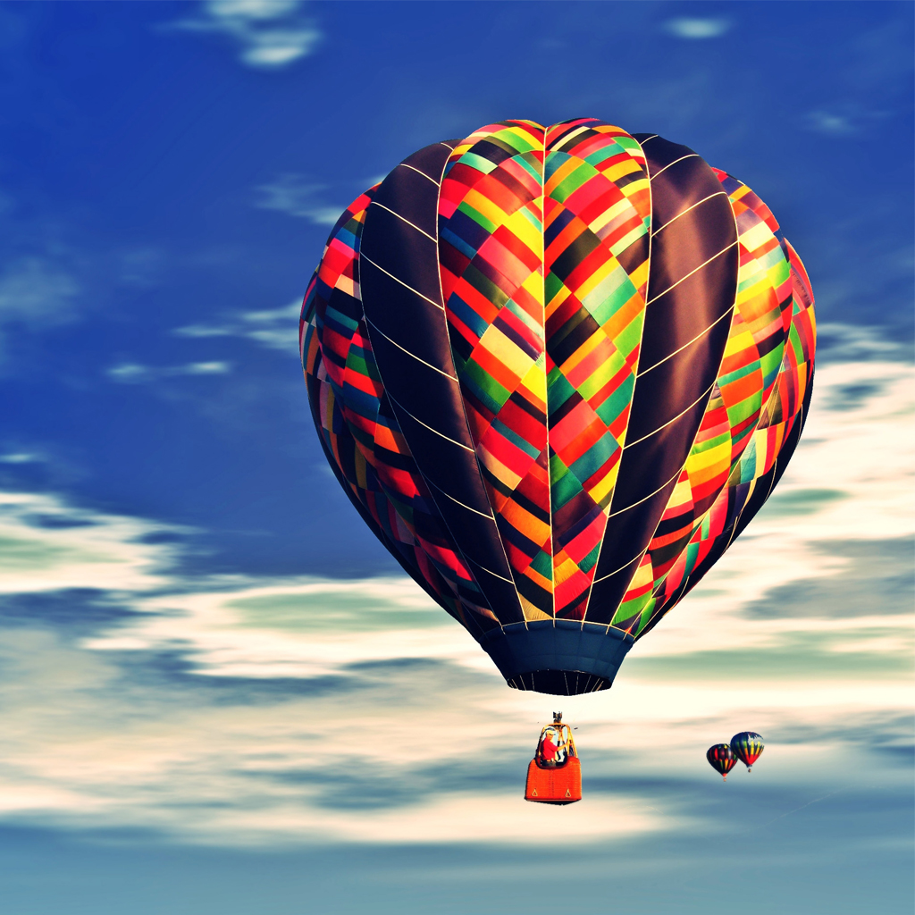Free Download Hot Air Balloon Fly On Air Ipad Wallpapers 1024x1024