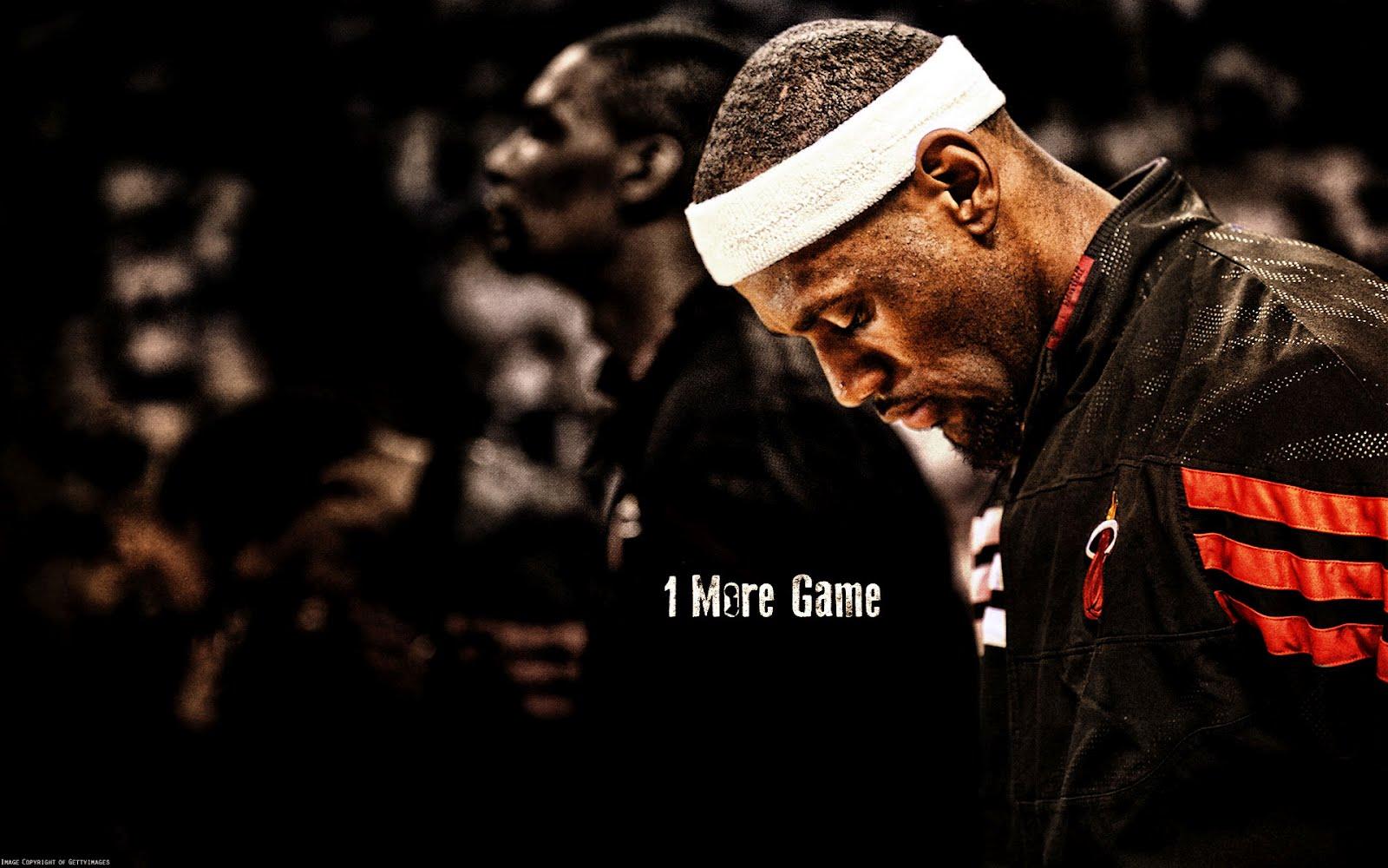 LeBron James 1 More Game 1920x1200 Wallpaper Big Fan of NBA   Daily 1600x1000