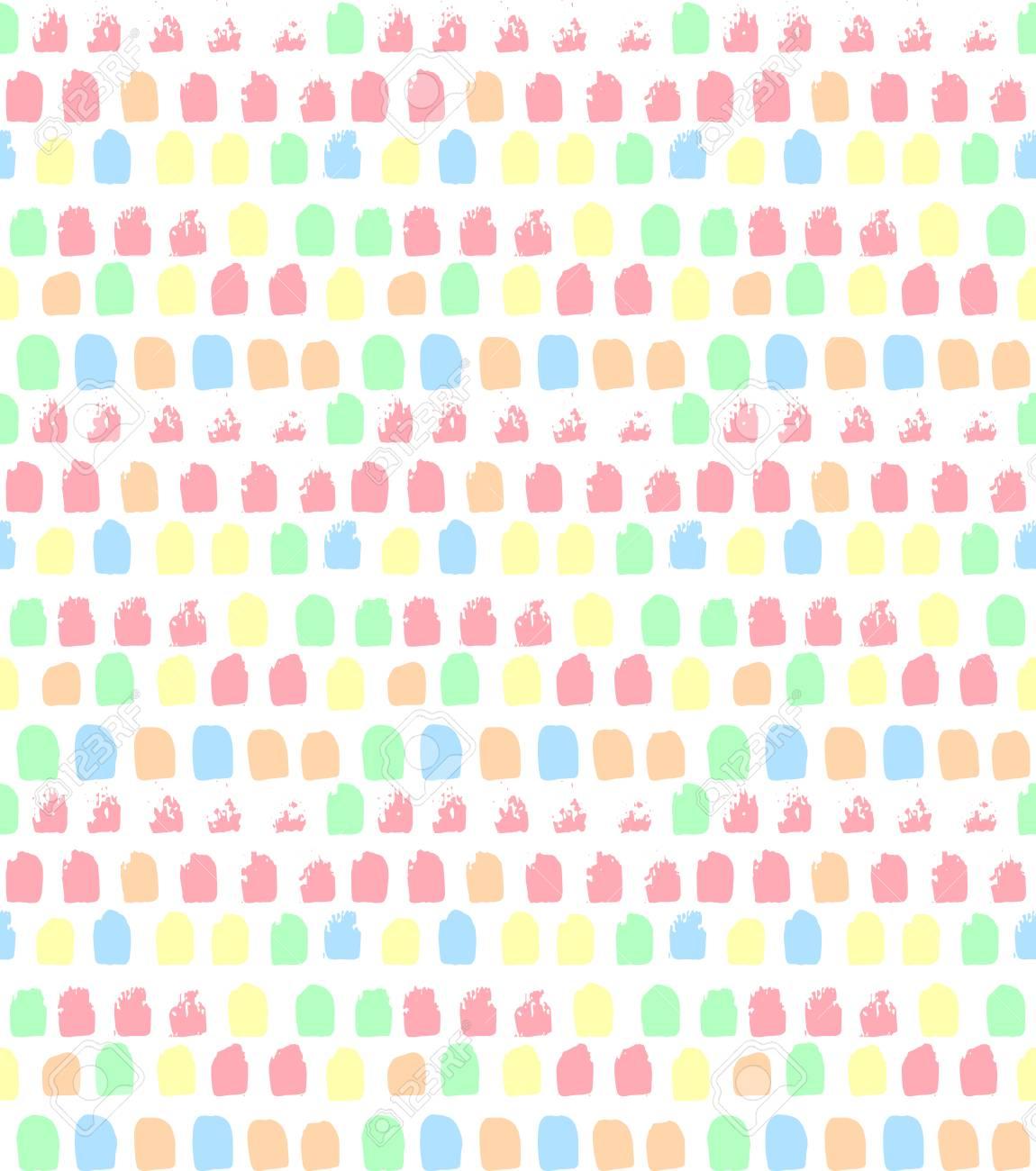 Vector Seamless Pattern Geometric Ornament Cute Spot Background 1150x1300