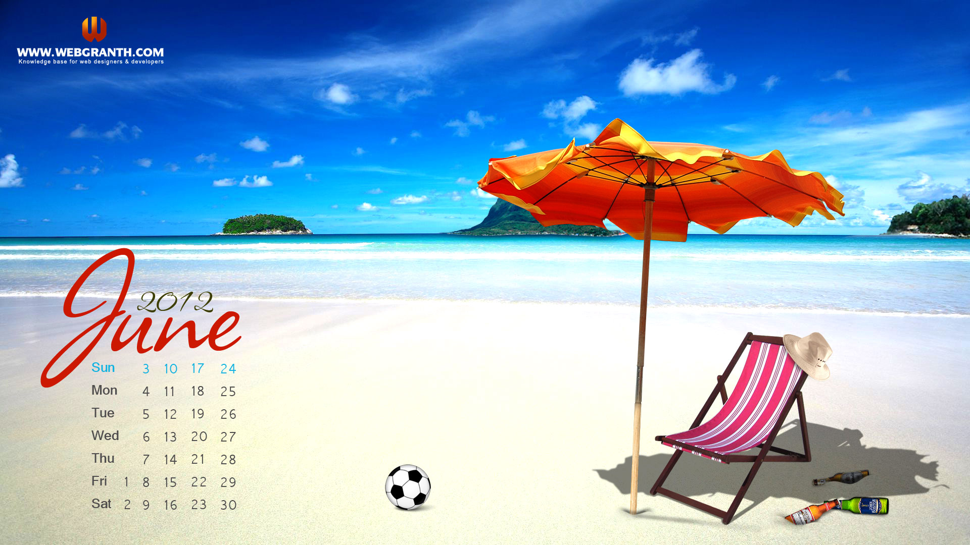 Free Download June Calendar Wallpaper 2012 Download Summer Hd