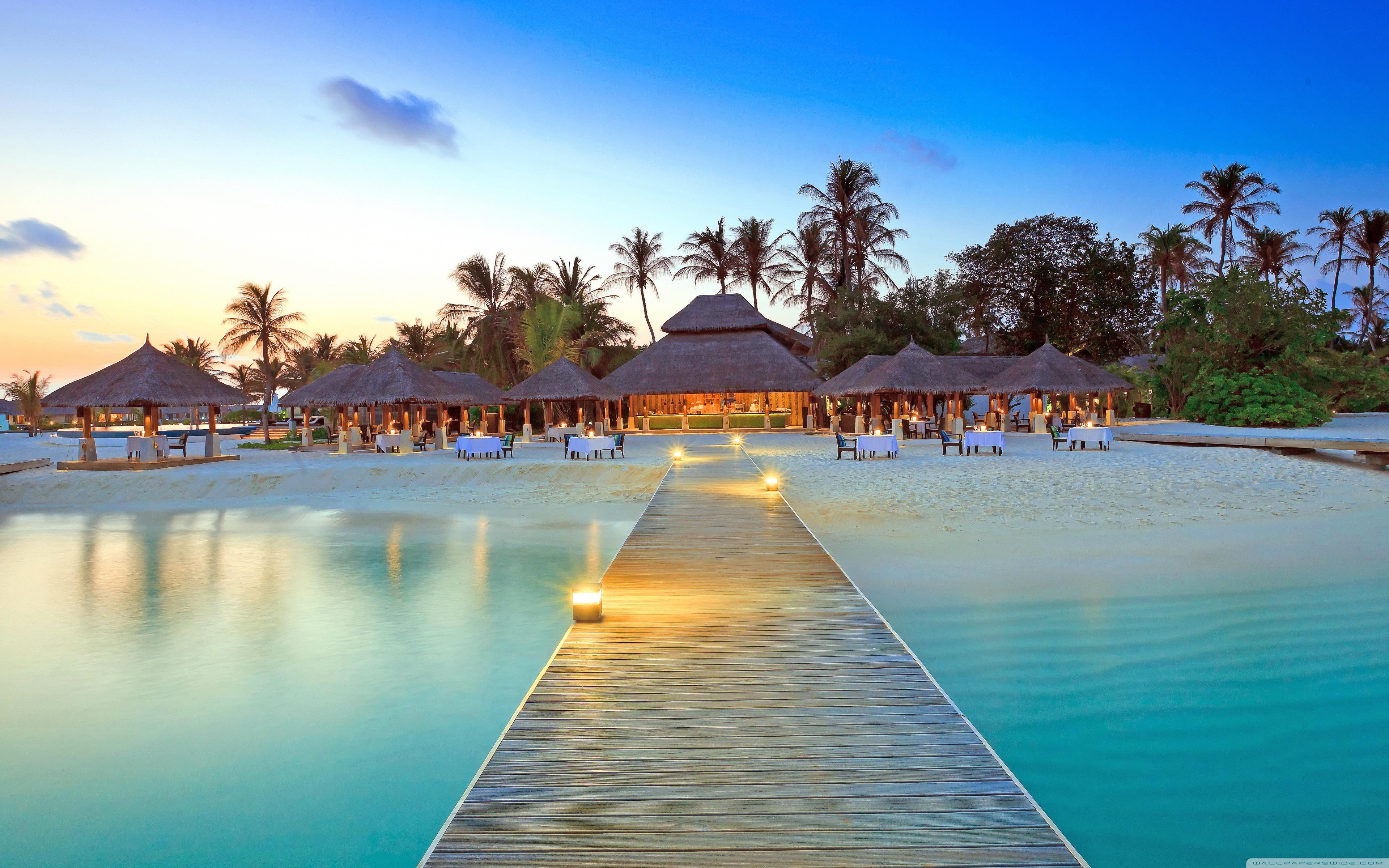 Maldive Islands Resort 4K HD Desktop Wallpaper for 4K Ultra HD 3840x2400