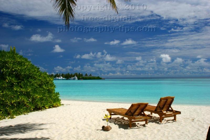 Island Maldives Beach Chairs White