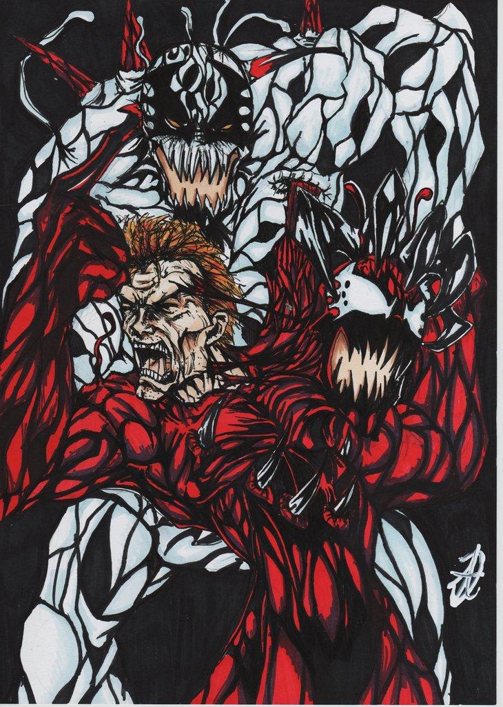 Venom Vs Carnage Vs Toxin Vs Anti Venom Carnage vs anti carnage by 730x1027