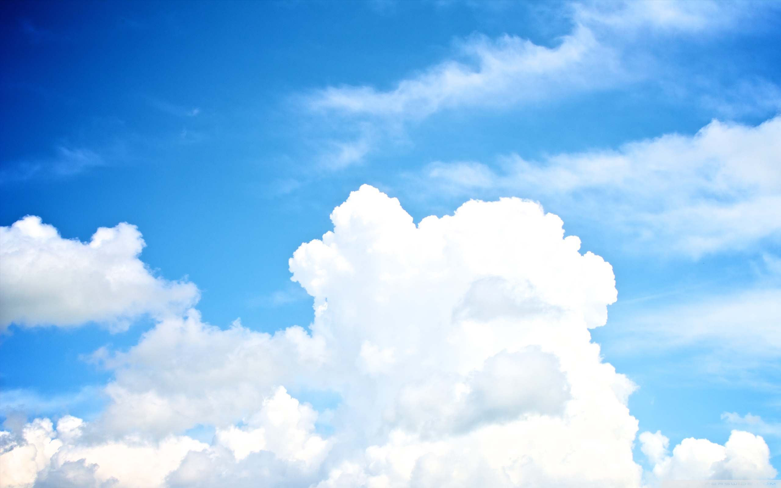 Free Download White Clouds In The Sky 4k Hd Desktop Wallpaper For 4k Ultra Hd 2560x1600 For Your Desktop Mobile Tablet Explore 29 Blue Sky With Clouds Wallpapers Blue