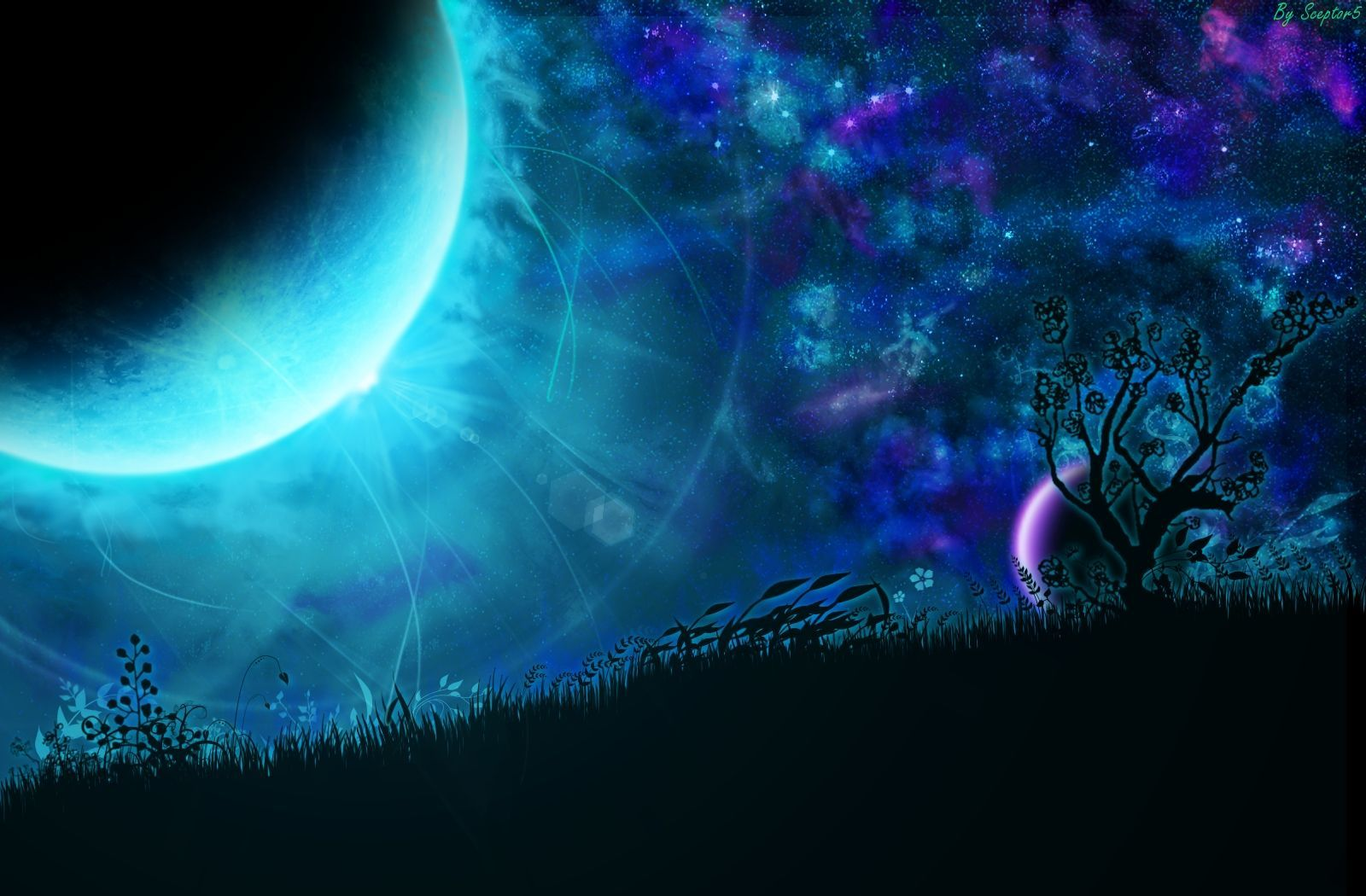 39 Fantasy Moon Wallpaper On Wallpapersafari