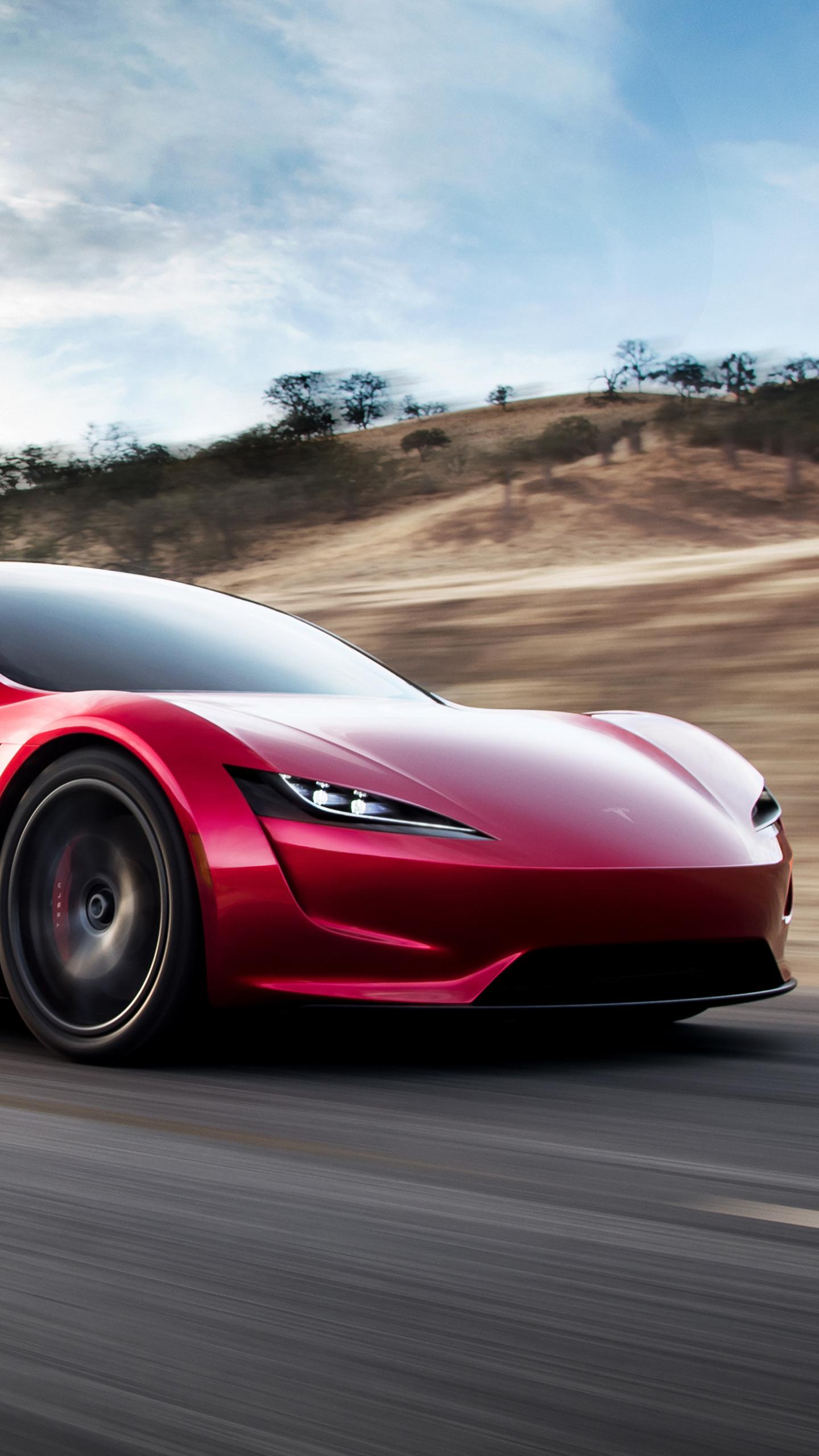 Download New Tesla Roadster Wallpaper Mobile TKG 1440x2560
