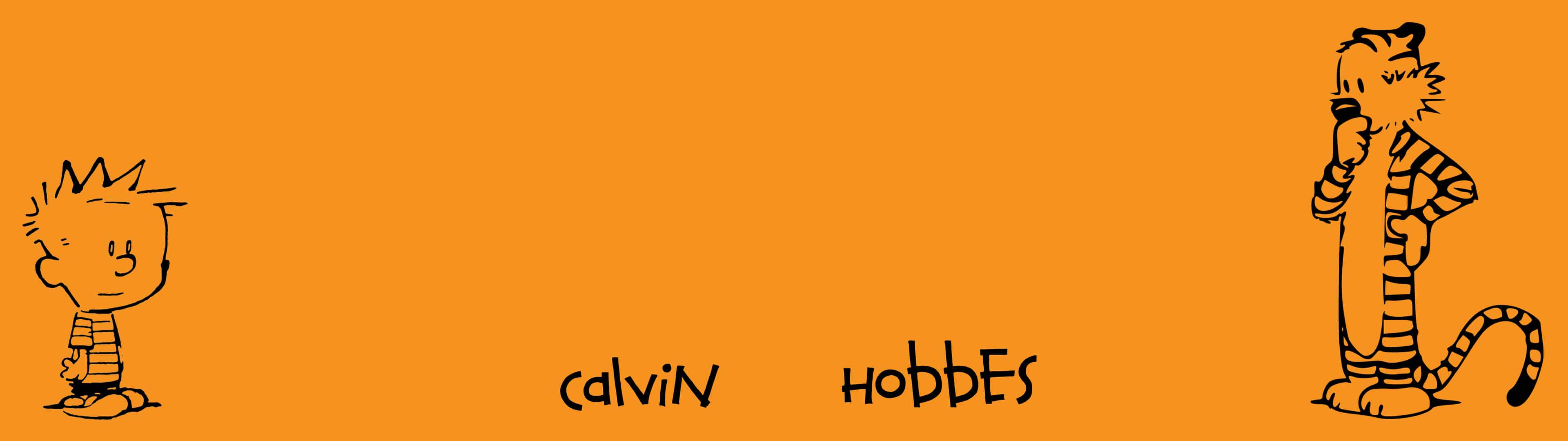 Calvin And Hobbes Dual Monitor Wallpaper   Pixelzcc 3840x1080
