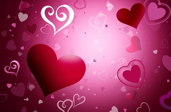 you download Red Peach Heart Background PSDIt is falling heart 570x373
