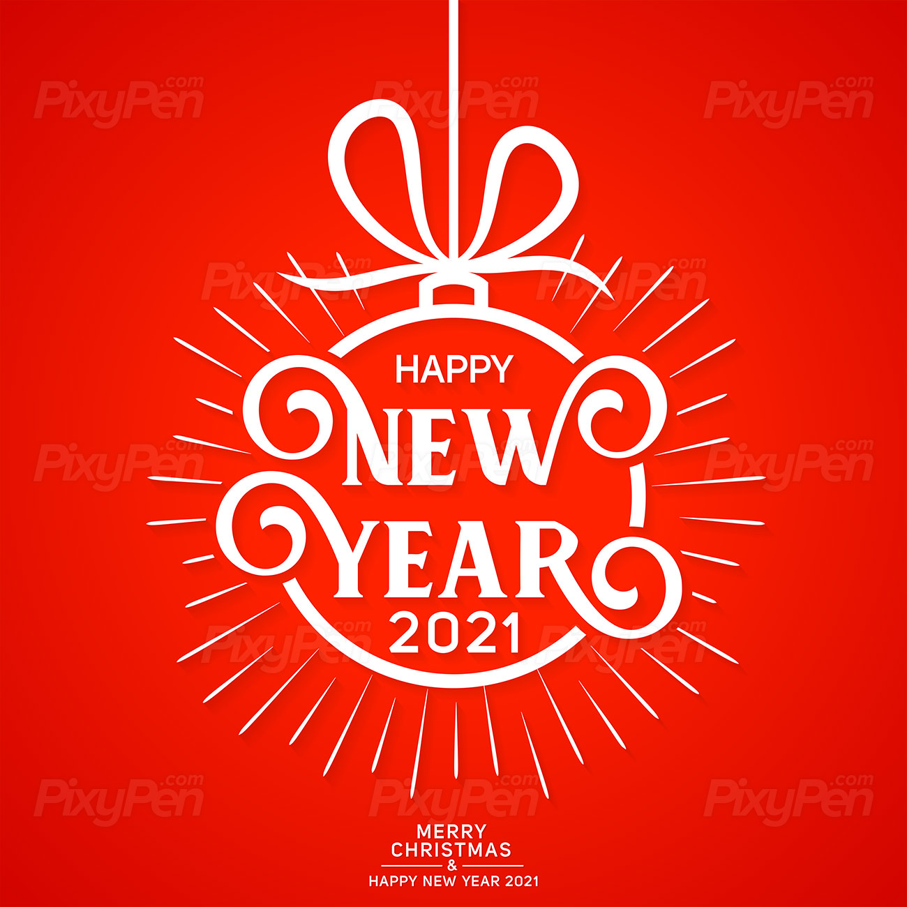 Merry Christmas and happy New Year 2021   Vector PixyPen 1300x1300