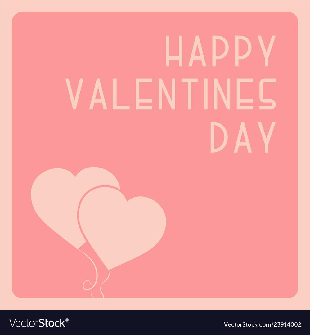Happy valentines day cute background with balloon Vector Image 999x1080