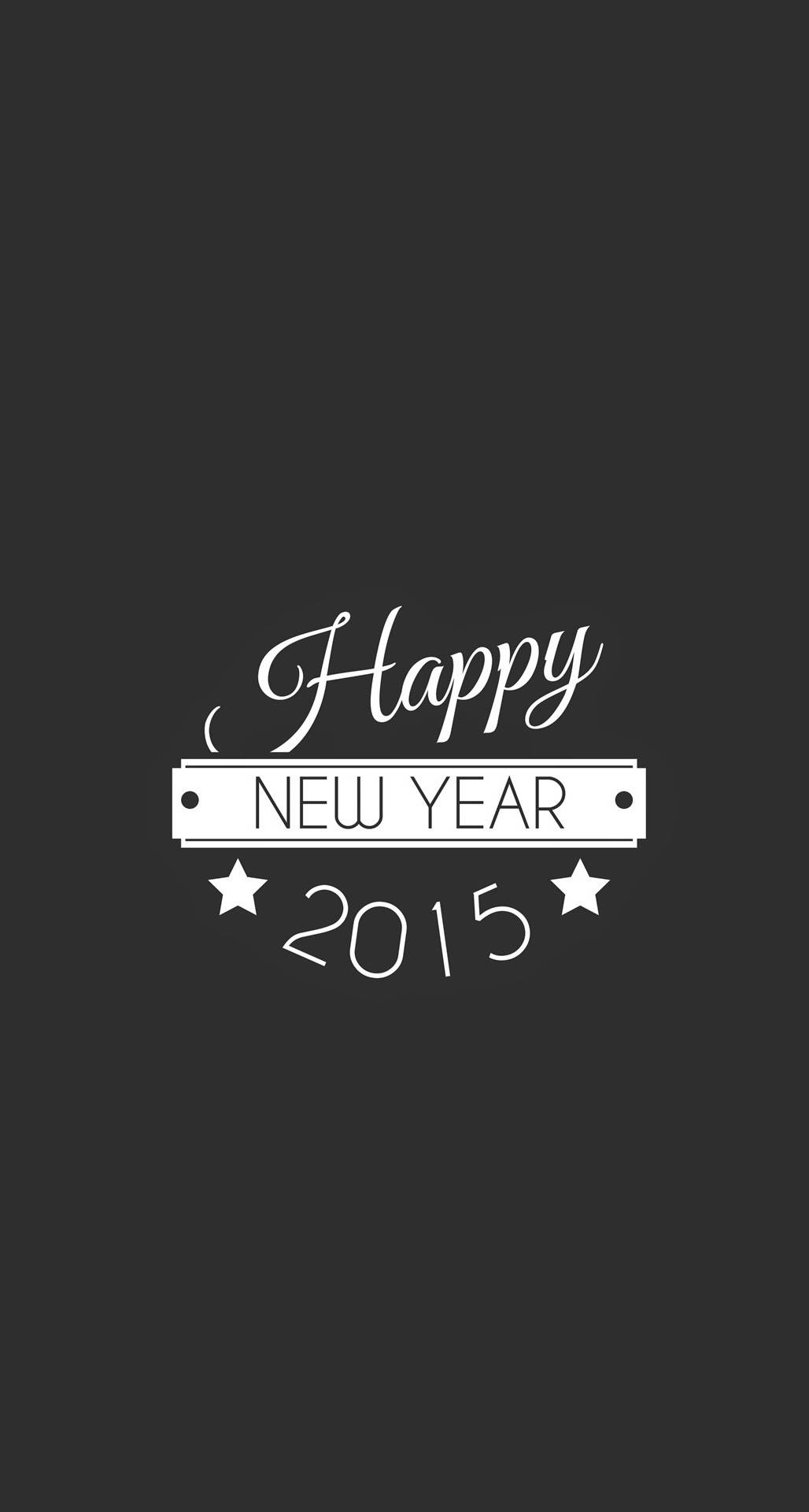 Happy New Year Typography iPhone 6 Plus HD Wallpaper iPod Wallpaper 1028x1920