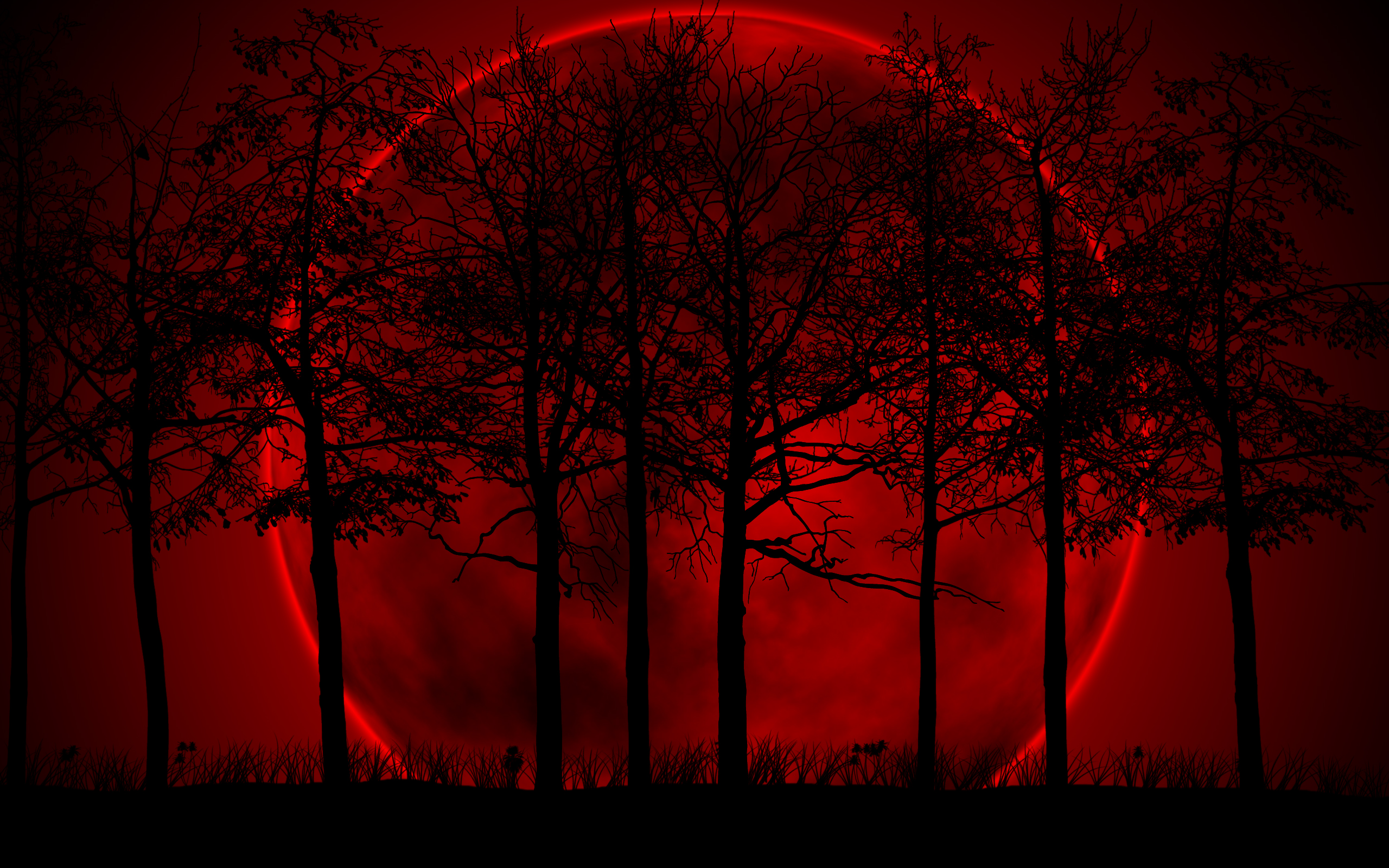 Blood Moon Frame Backgrounds for Powerpoint Templates   PPT 2560x1600