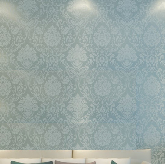 metallic damask classic wall paper blue background wall wallpaper 546x545