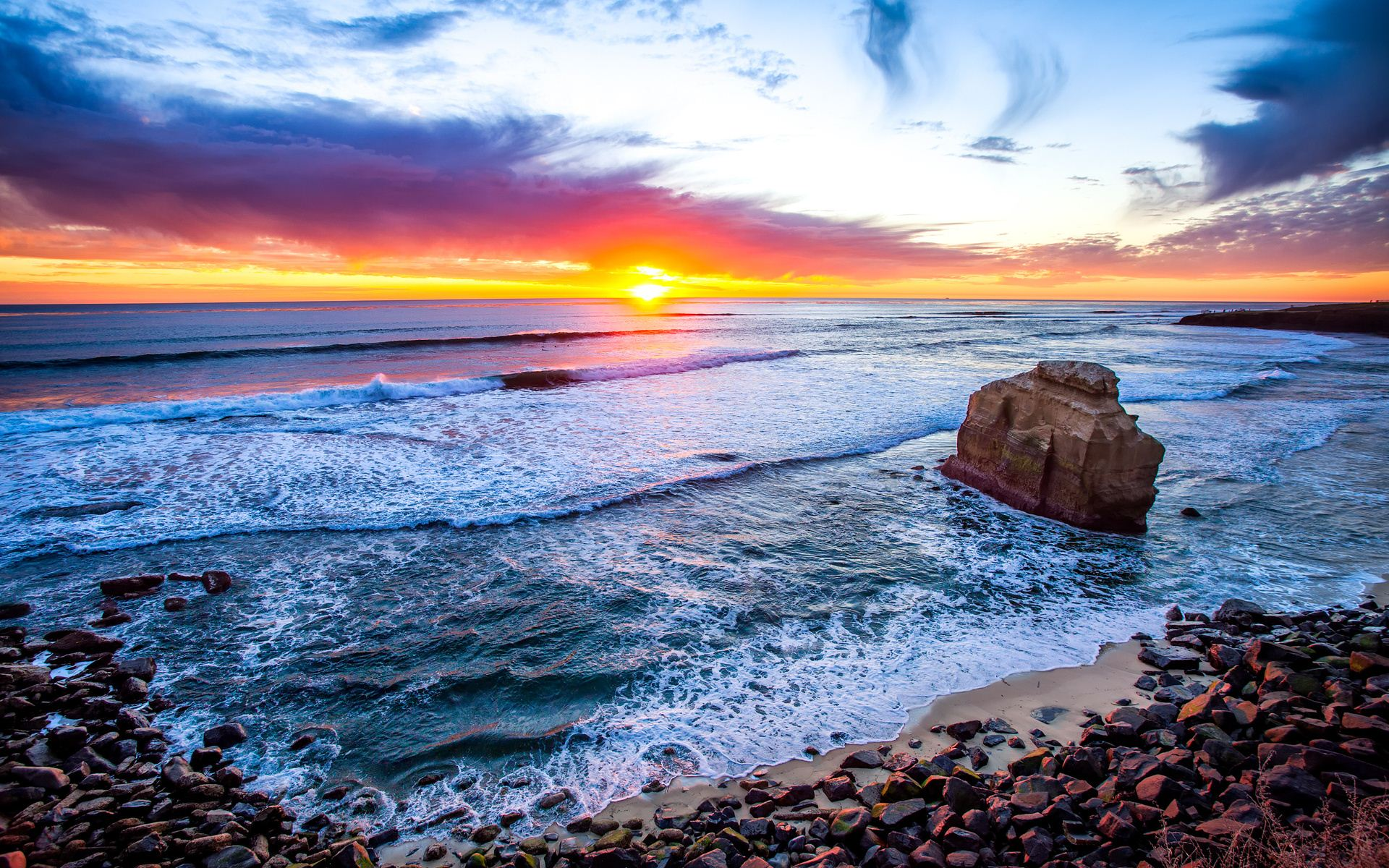 San Diego Beach Sunset HD Wallpapers 1920x1200