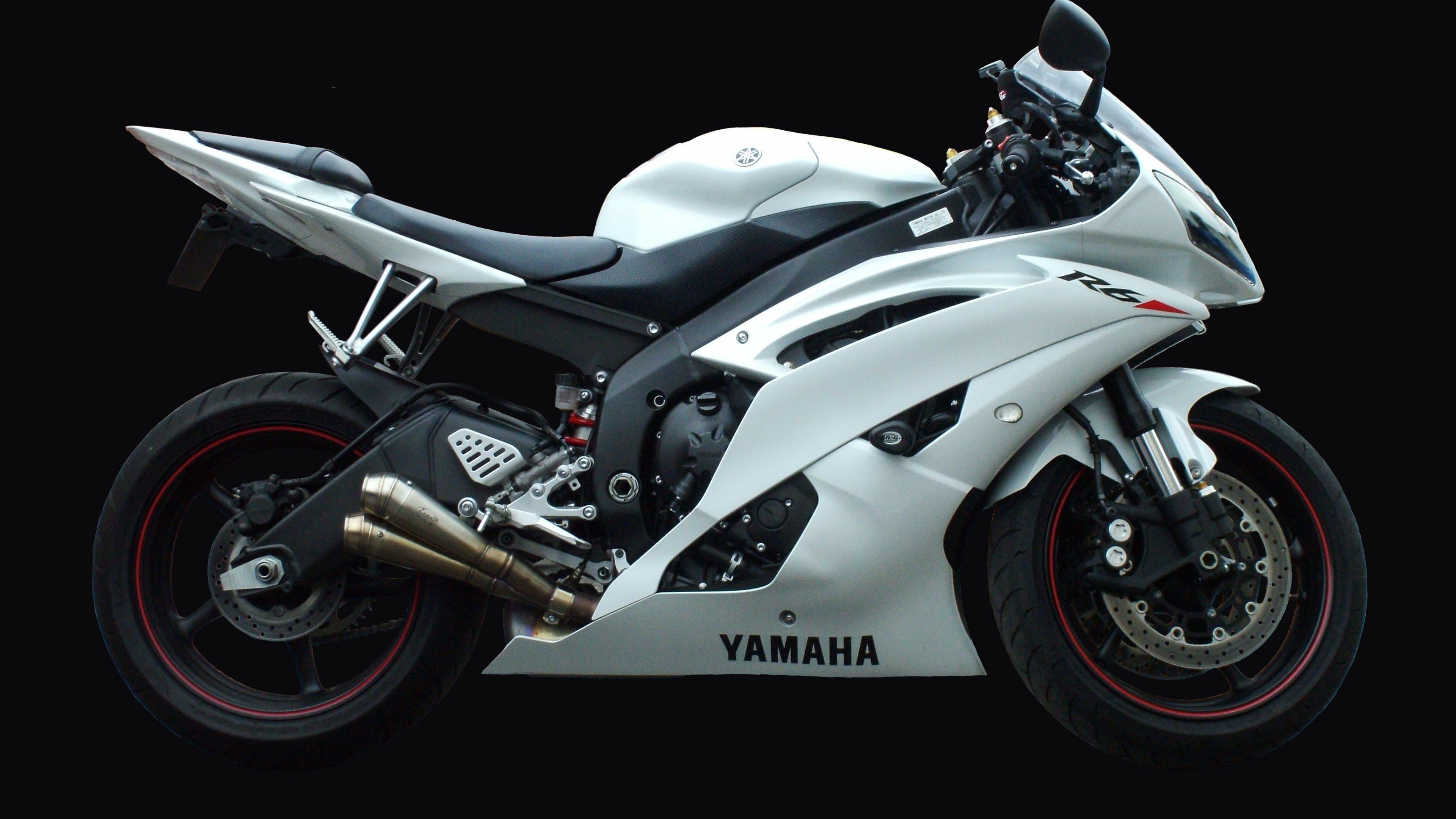 WallpaperUniversitycom White Black Yamaha YZF 6R   4K Wallpaper 3840x2160