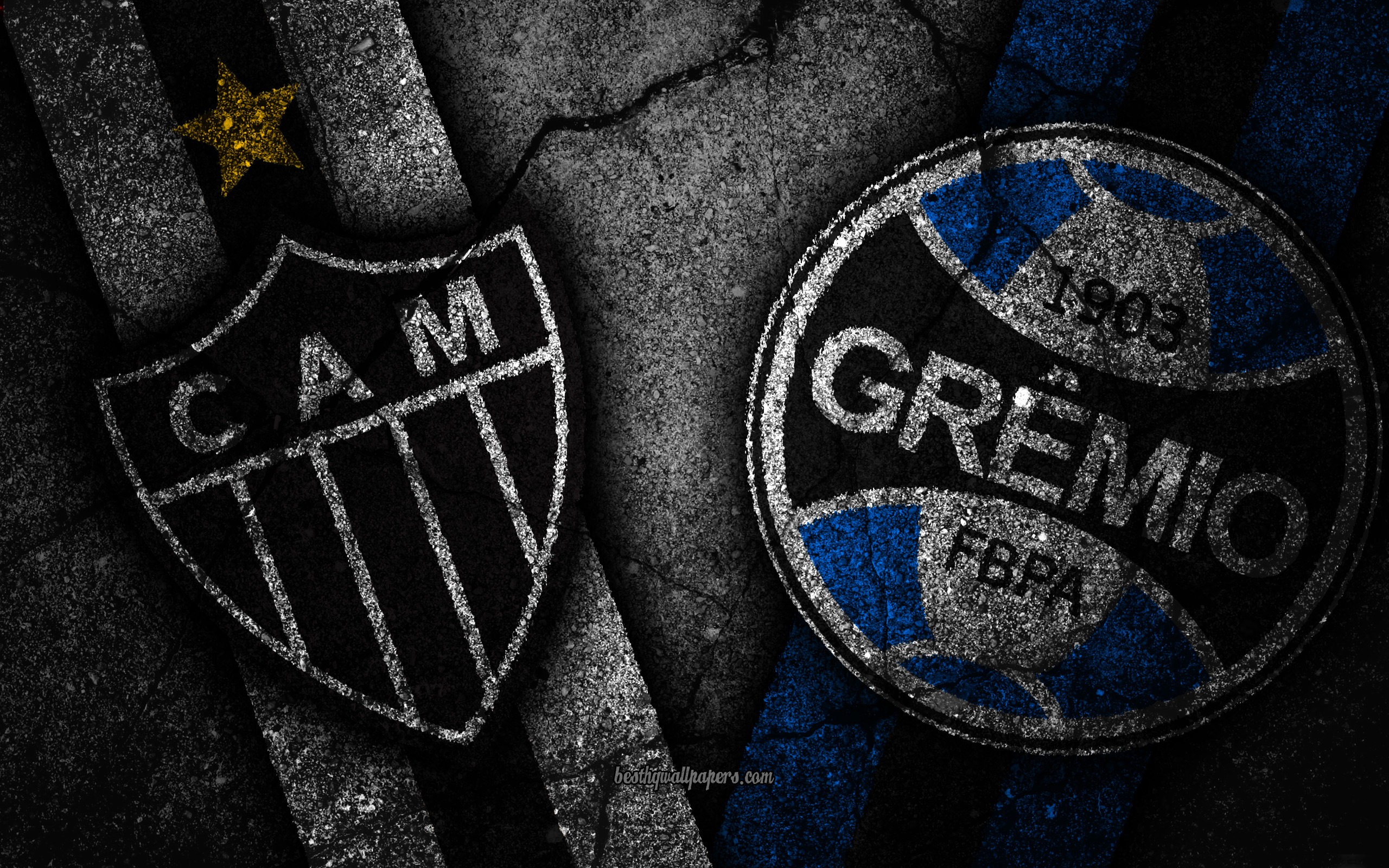 Download wallpapers Atletico Mineiro vs Gremio Round 32 Serie A 2560x1600
