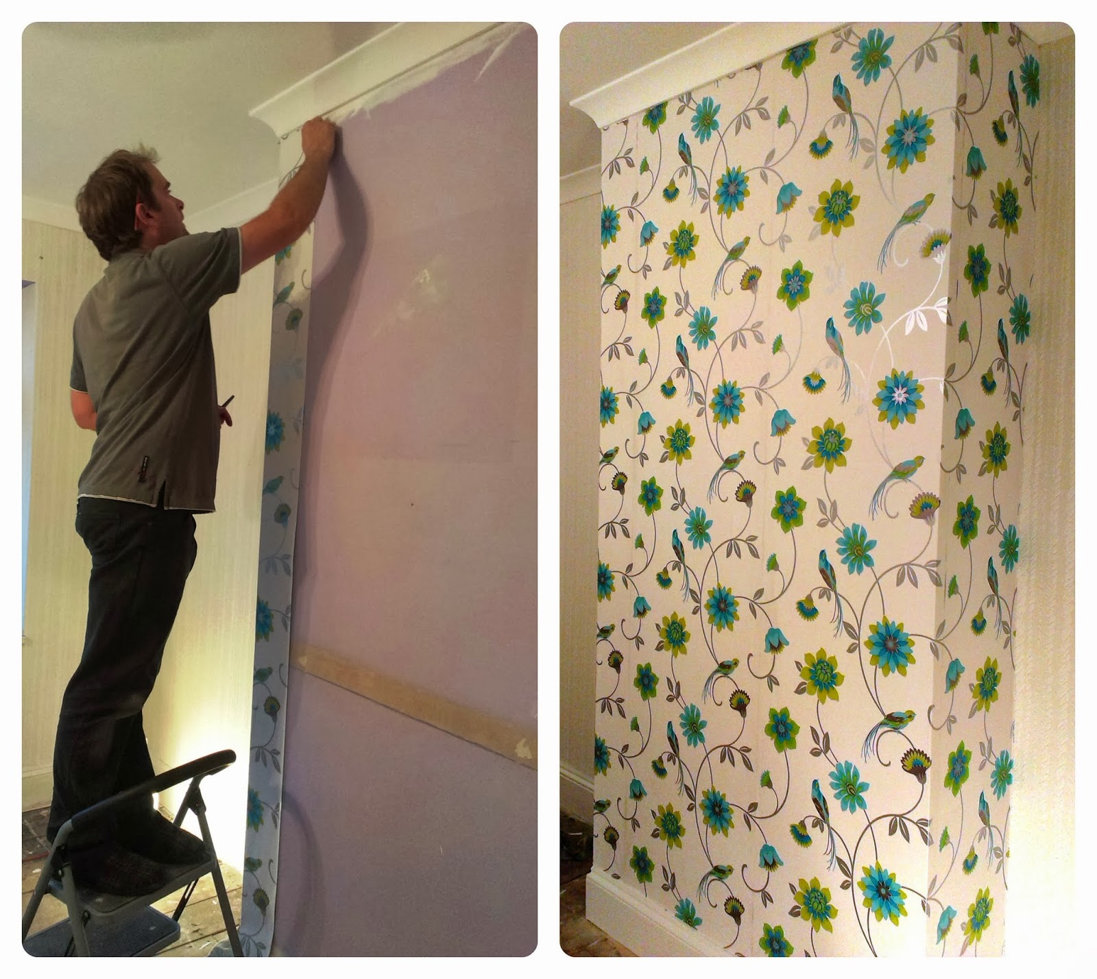 Wallpapering - the room we seem to have been working on for ages, but ...