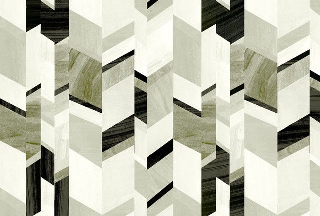 Abstract Chevron Design Stone Grey   Modern   Wallpaper   by CUFFHOME 640x432