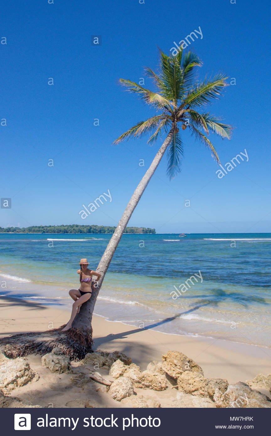 BOCAS DEL TORO PANAMA   APRIL 20 2018 Unidentified woman posing 864x1390