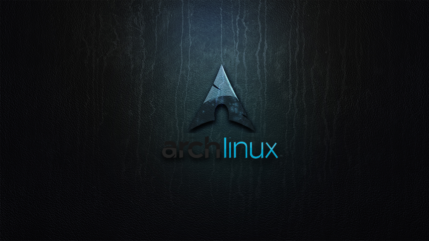 Archlinux on the wall by zildj4n customization wallpaper mac pc os don 1366x768