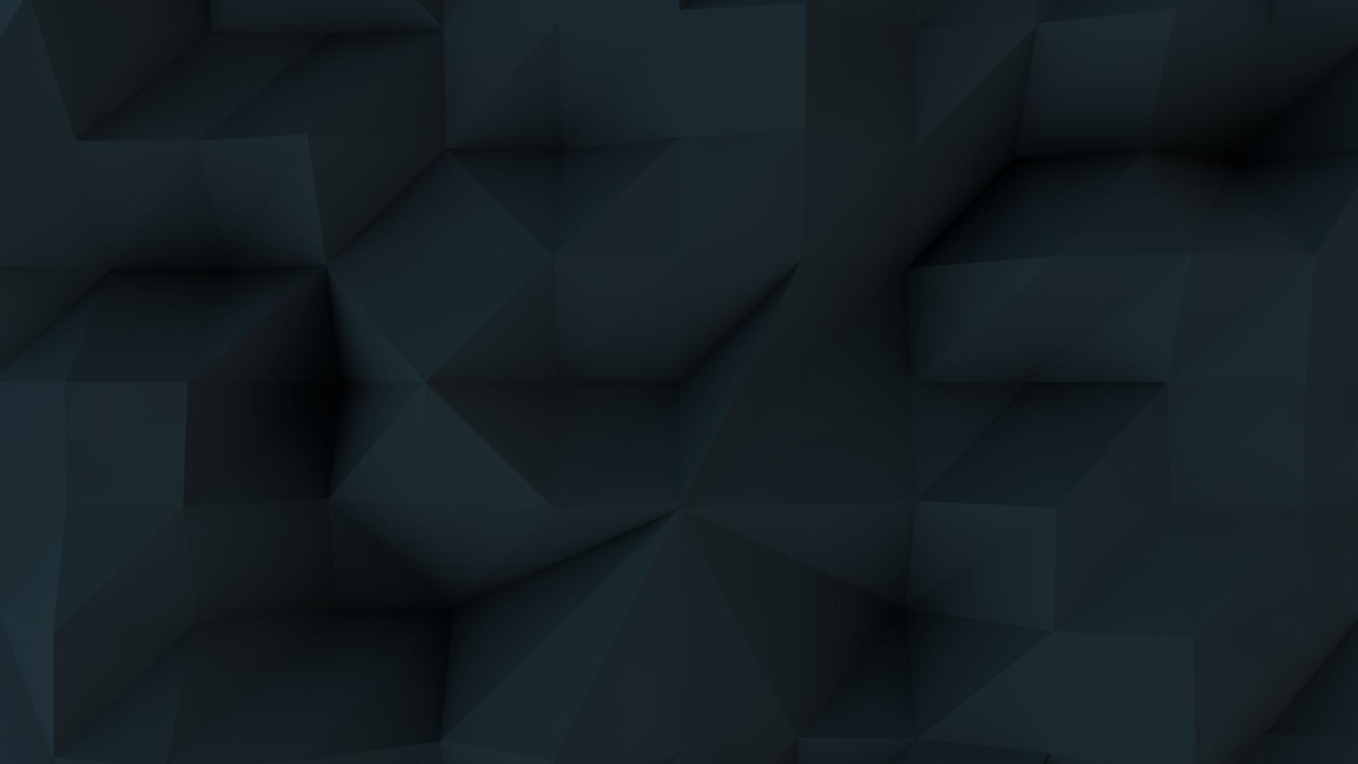 Black Low Poly HD Wallpaper 1920x1080
