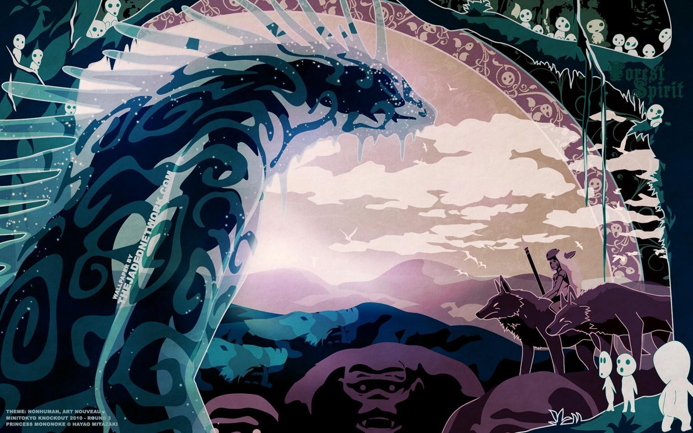 Princess mononoke wallpaper wallpapersafari - Mononoke anime wallpaper ...