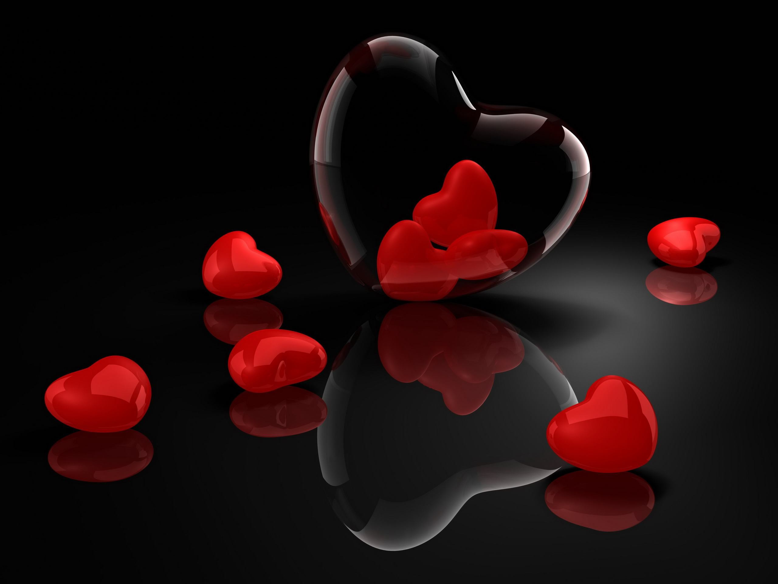 Black and Red Heart Wallpaper 61 images 2560x1920
