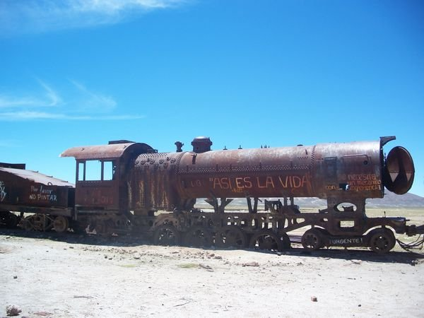 abandoned steam train Photo 600x450