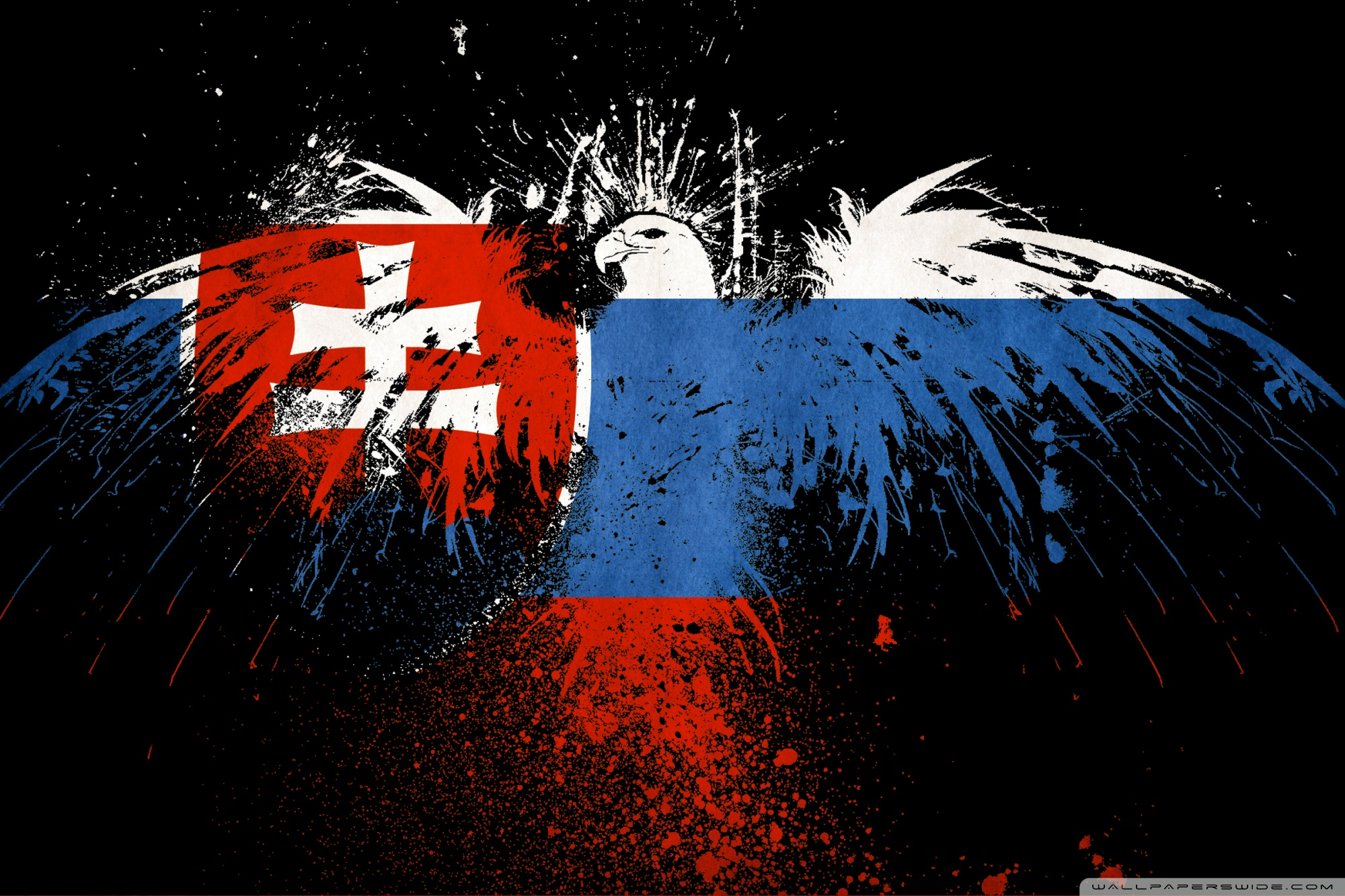 Grunge Flag Of Slovakia 4K HD Desktop Wallpaper for 4K Ultra HD 2000x1333